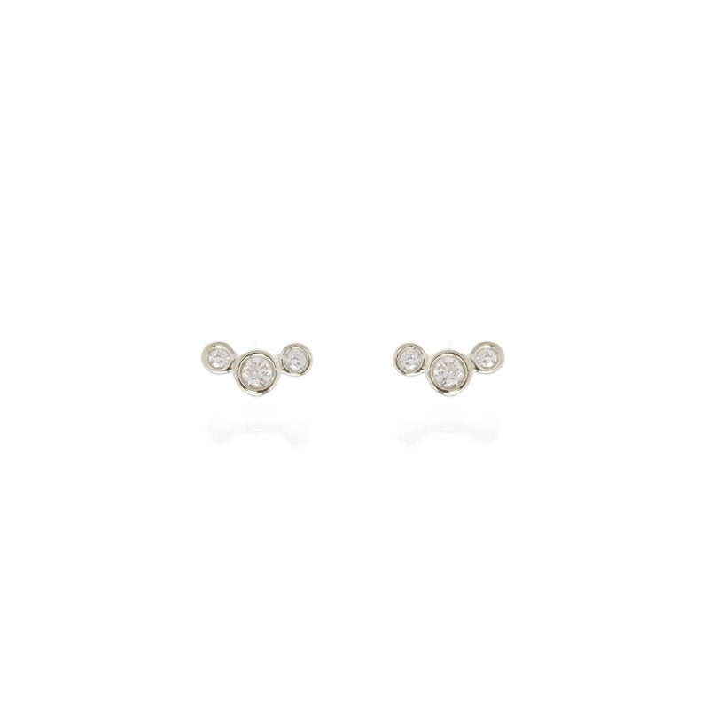 Three Diamond Stud Earrings - available on special order