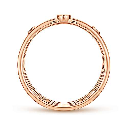 Bezel Set Diamond Station Layered Ring - available on special order