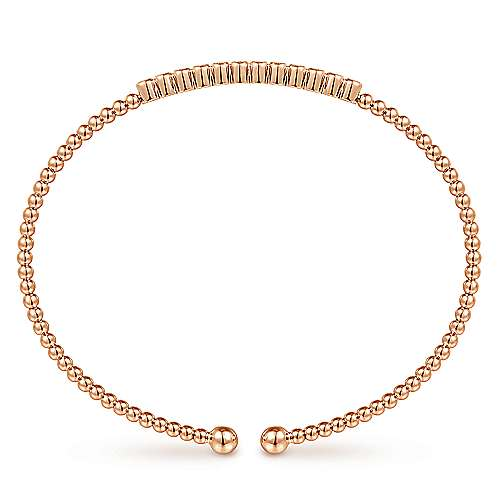 Bead Cuff Diamond Station Bangle