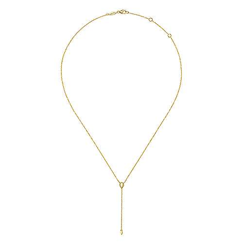 Gold Y-Knot Lariat Necklace