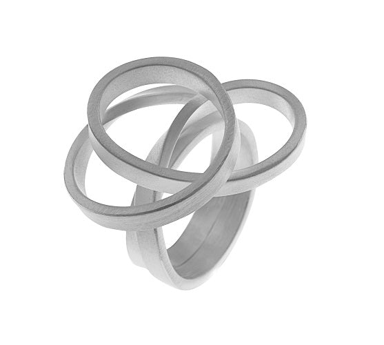 Sterling Silver Open Swirl Ring