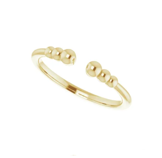 Gold Beaded Negative Space Ring