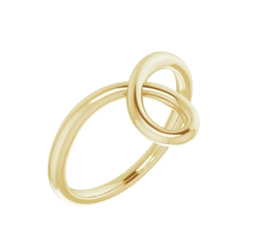 Gold Loop Bypass Ring