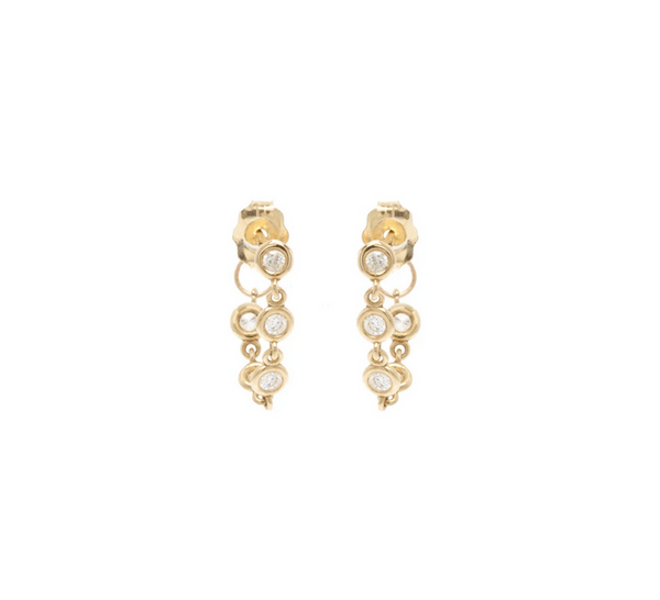 Five Linked Diamond Drop Earrings