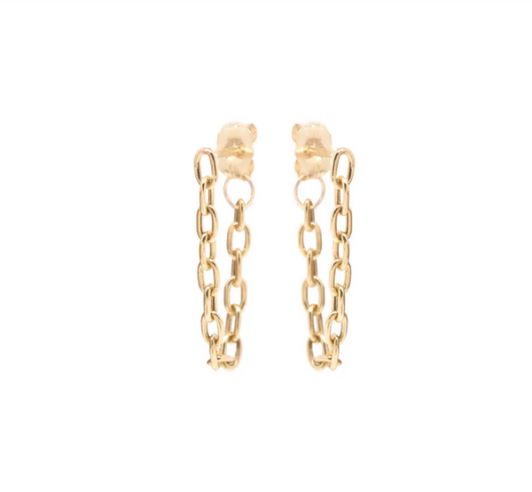Gold Link Chain Earrings - available on special order