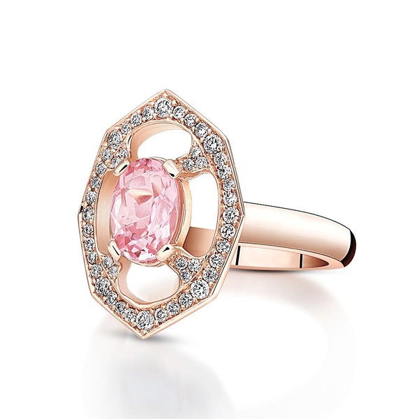 Pink Morganite & Diamond Affinity Ring - available on special order