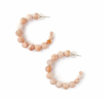 Matte Sunstone Hoop Earrings