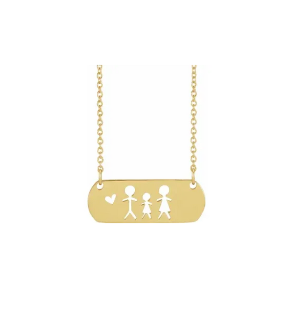 Stick Figure Family Necklace - available on special order