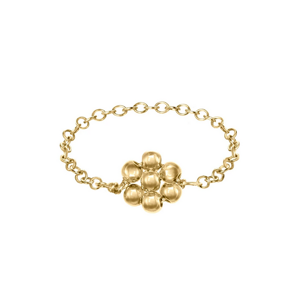 Gold-filled Flower Chain Ring