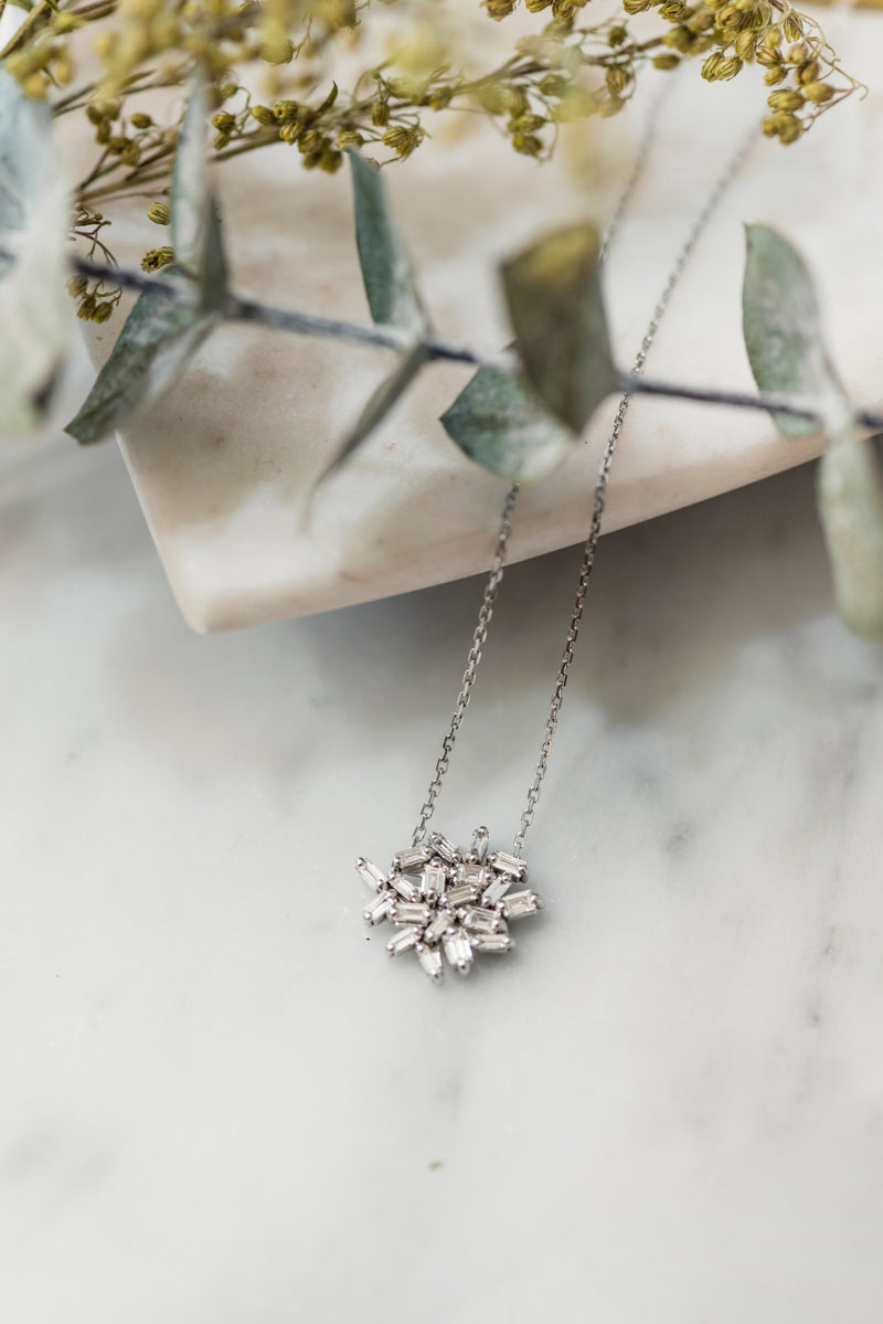 Baguette Diamond Fireworks Necklace