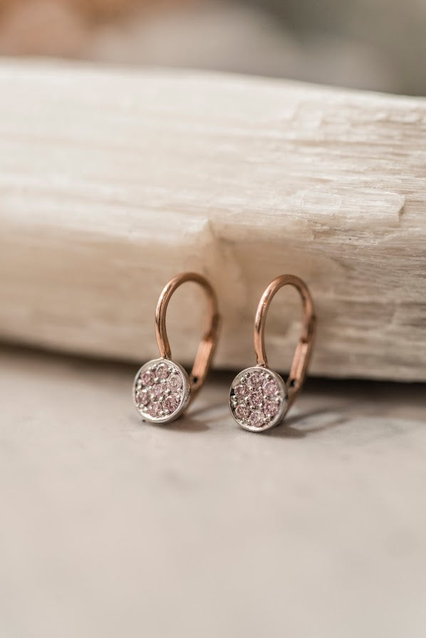 Petite Pink Diamond Earrings