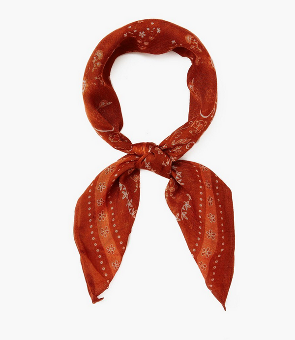 Gingerbread Paisley Bandana/Neckerchief