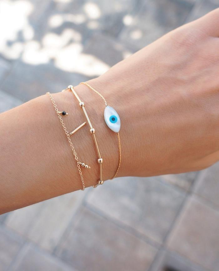 Mother-of-Pearl Eye bracelet