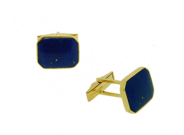 14K Yellow Gold Lapis Cufflinks