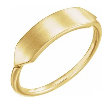 Gold Geometric Signet Ring - available on special order