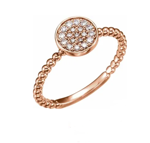Diamond Round Bead Ring