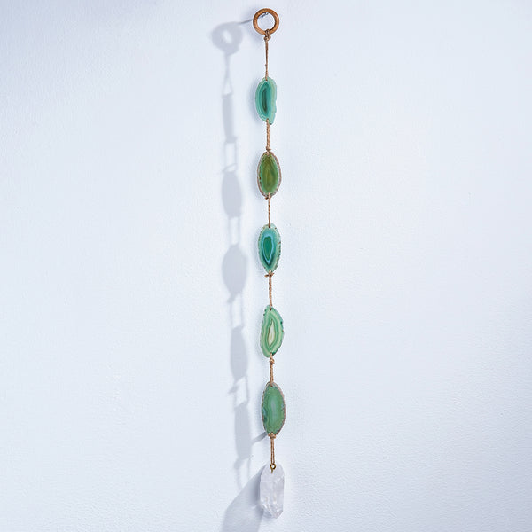 Green Agate Wall Hanging