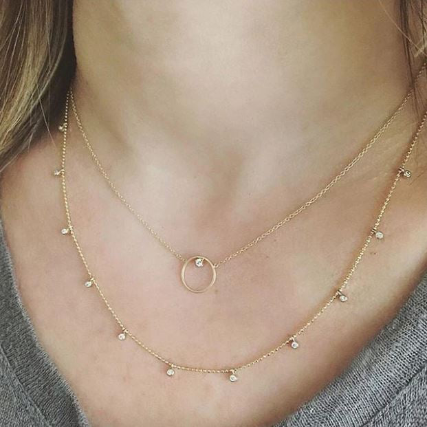 Circle Diamond Necklace - available on special order