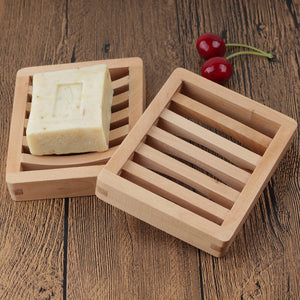 Bamboo Soap Dishes Tray