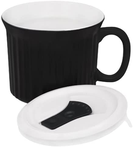 CorningWare Pop Ins 20 ounce Mug With Lid Black Licorice