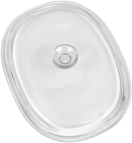 CorningWare French White 2-1/2-Quart Oval Glass Replacement Cover