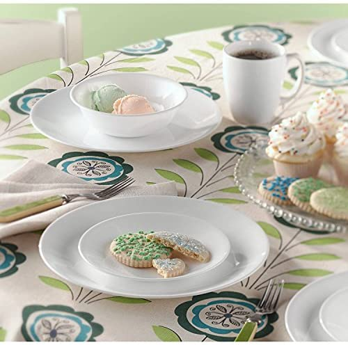 CORELLE Livingware Winter Frost White Dinnerware, Set of 24  Service for 8 Perfect for Big Servings