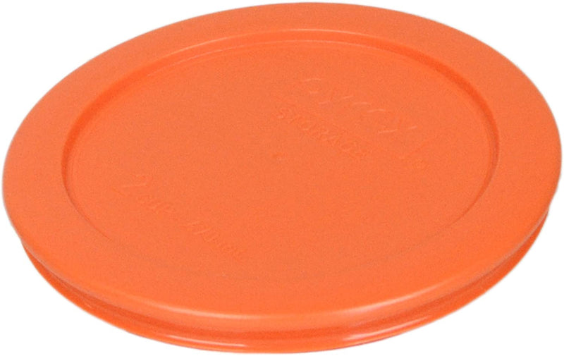 Pyrex 7200-PC Round 2 Cup Storage Lid for Glass Bowls (Orange)