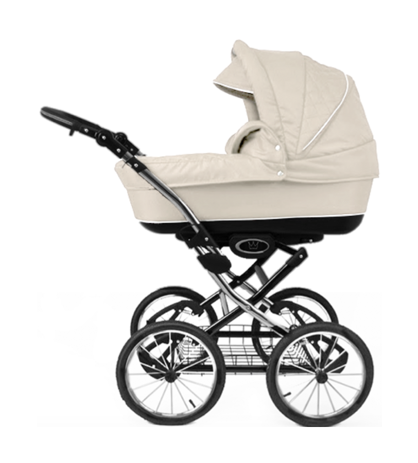The Crown Kids 3-in-1 set SIXXMO crème (incl. accessiores) - uwkinderwagen.nl