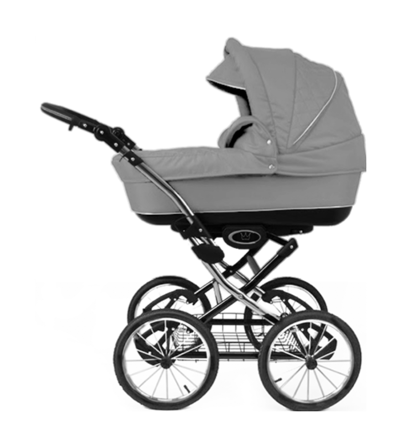 The Crown Kids 3-in-1 set SIXXMO grijs (incl. accessiores) - uwkinderwagen.nl