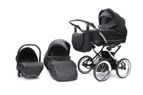 The Crown Kids SIXXMO 3-in-1 zwart (incl. accessoires)