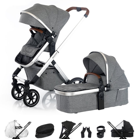 BEQOONI Sparkling Grey 2-in-1 (incl. accessoires)