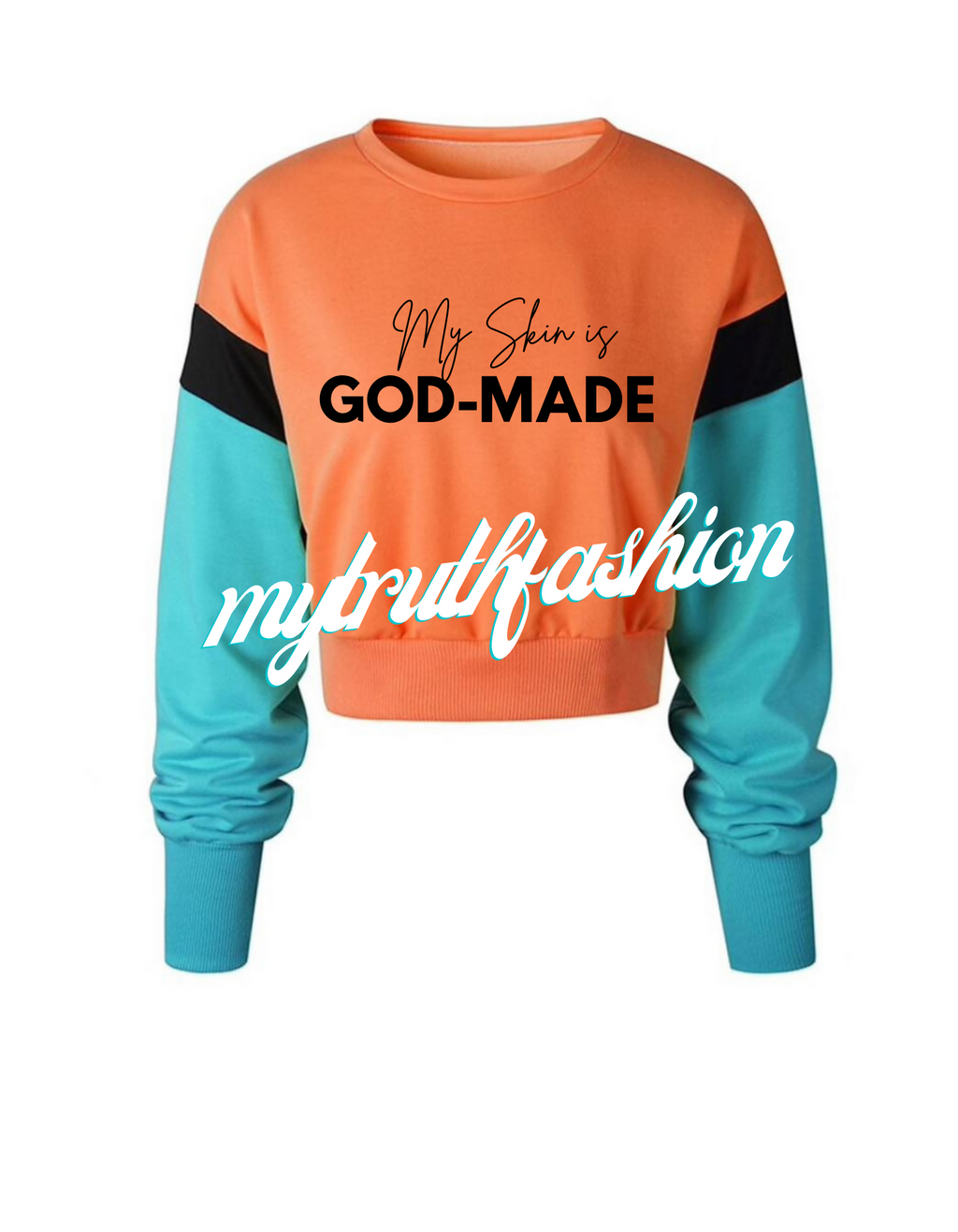 COLORBLOCK CRUSADER CROP SWEATSHIRT