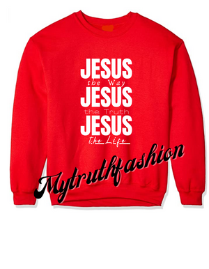 JOLLY RED 'JESUS JESUS JESUS' SWEATSHIRT