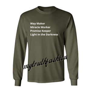 ARMY GREEN WAYMAKER TEE