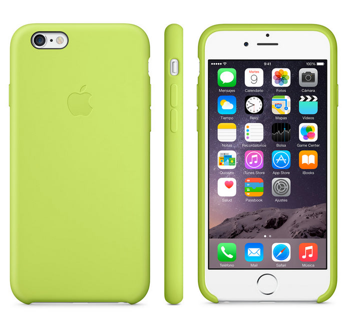 Apple funda iPhone 6 plus silicona verde - Goldenmac