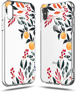 Be Unique Funda Gel Plantas y Hojas de Colores para iPhone XR