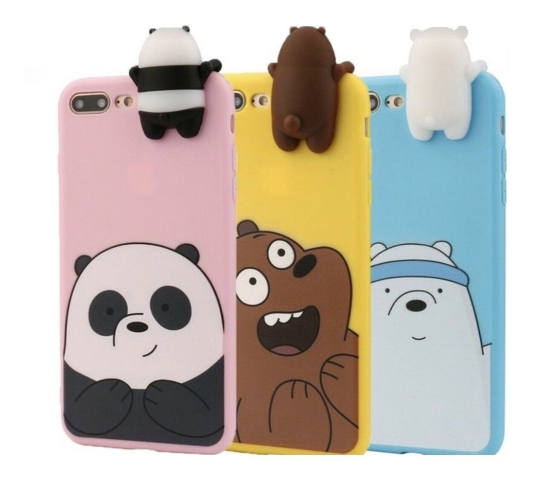Case Funda iPhone 6 6+ 7 7+ 8 8+ X Xs Xr Max Oso Escandaloso
