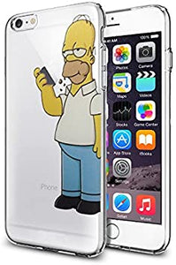 FUNDA CARCASA PARA IPHONE 6 HOMER COMIENDO MANZANA + FILM DE