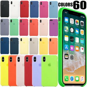 FUNDA PARA APPLE IPHONE XR X XS MAX ORIGINAL SILICONA CARCASA OEM - printpeace
