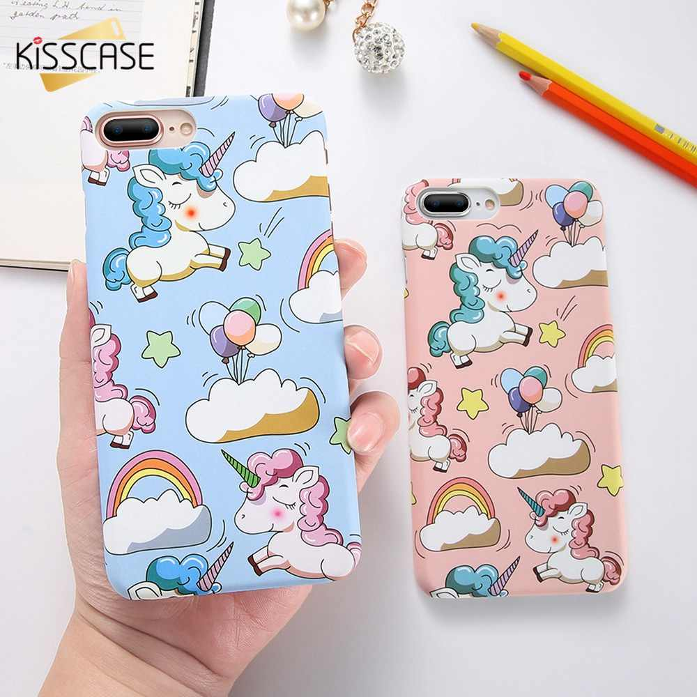 Funda KISSCASE Unicorn para iPhone X XS Max XR fundas bonitas para