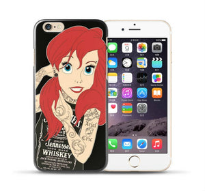 Funda Princesa Ariel Disney Tatuada - iPhone 7 / 7 Plus / 8 / 8 Plus