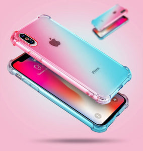 Funda Silicona con Degradado para iPhone - 7 Colores