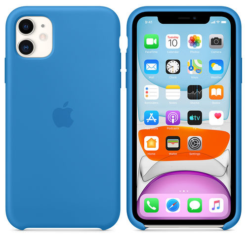 Funda Silicone Case para el iPhone 11 - Azul surfero - Goldenmac