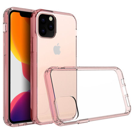 Funda iPhone 11 Pro Max Olixar ExoShield - Oro Rosa / Transparente