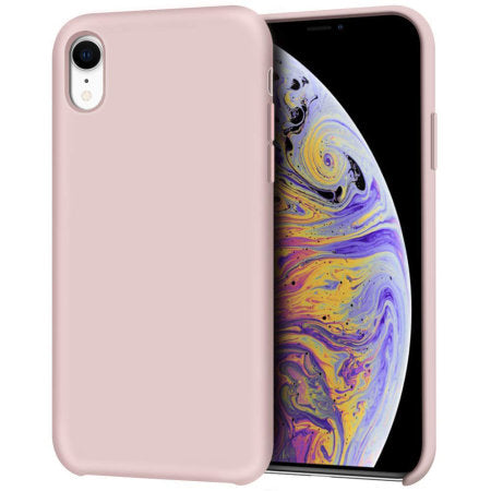 Funda iPhone XR Olixar Soft Silicone - Rosa Pastel
