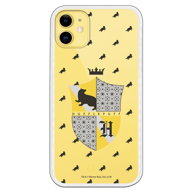 Funda para iPhone 11 Oficial de Harry Potter Hufflepuff Escudo