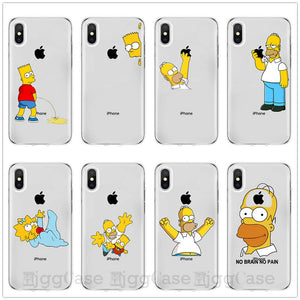 Homer J. Simpson Phone Case For iPhone 6 6s 7 8 PLUS X XR XS MAX