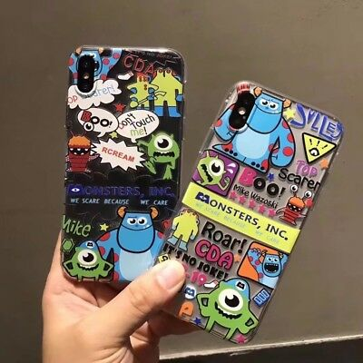 Monstruos SA Mike Sully Disney Fundas Iphone X 5/5S 6/6S 6+/6S+