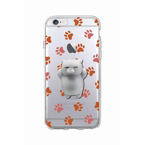 Squishy Blando 3D Animal Gato Cat iPhone 6s Case Cute Stress
