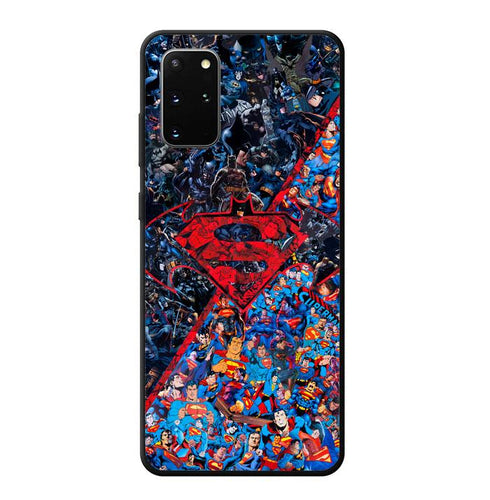 coque custodia cover fundas hoesjes j3 J5 J6 s20 s10 s9 s8 s7 s6 s5 plus edge B12253 Batman Superman B0465 Samsung Galaxy S20 Plus Case